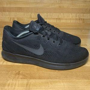 Nike Free RN Black 2017 Anthracite Running shoes